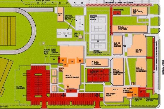 Schematic Design / MASTER PLAN FEASIBILITY STUDY - Gulf Coast Middle School, New Port Richey, Florida