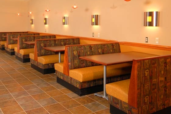 Cafe booth seating
