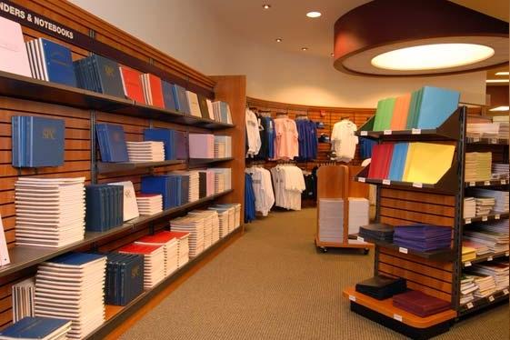 Bookstore retail area