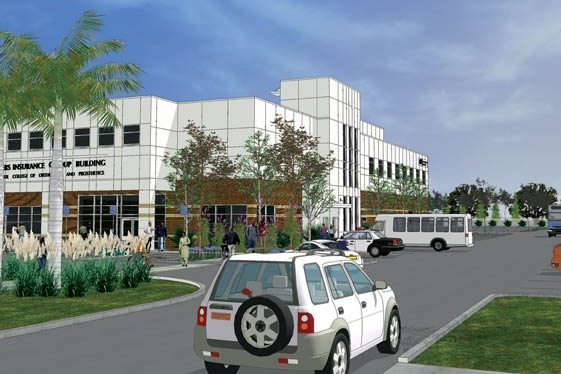 ST. PETERSBURG COLLEGE - Caruth Health Education Center, Orthotics and Prosthetics Building, Pinellas Park, Florida • front rendering