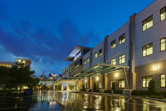 Suncoast Medical Clinic at dusk.