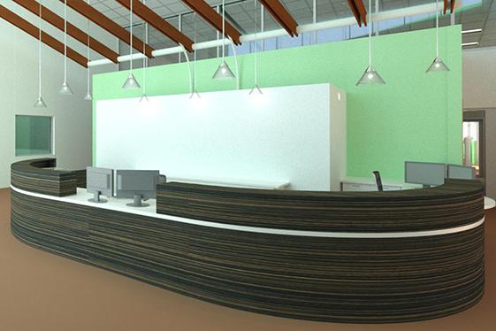 New Staff Reception Desk