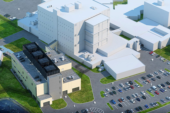 Jail Infrastructure Building - Northwest Aerial View