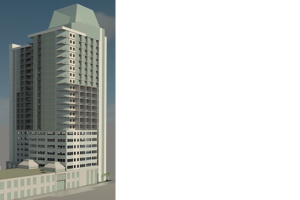 Conceptual Rendering of Commercial Office Building